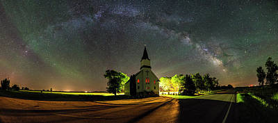 Poster featuring the photograph Glorious Night by Aaron J Groen