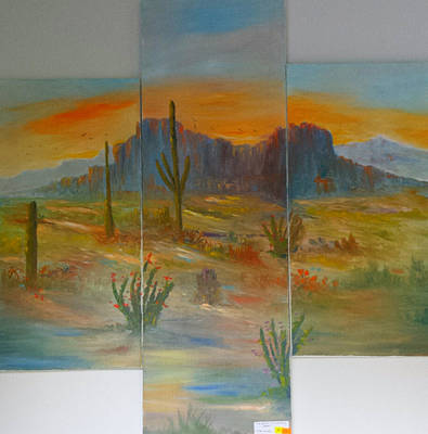 Glowing Desert #1 Poster by Bryan Benson