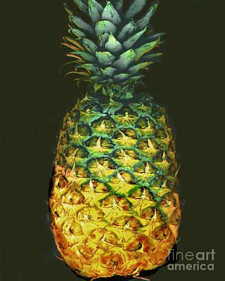 Golden Pineapple Poster by Merton Allen