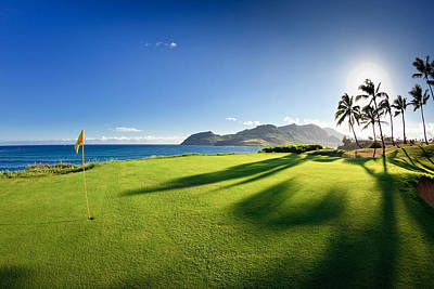 Golf Flag In A Golf Course, Kauai Poster by Panoramic Images