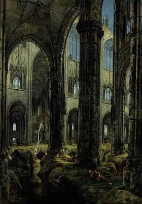 Gothic Church Ruins Poster