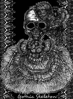 Gothic Skeleton Poster by Akiko Okabe