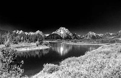 Poster featuring the photograph Grand Tetons by Nigel Fletcher-Jones