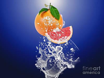 Grapefruit Splash Poster by Marvin Blaine