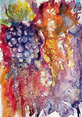 Grapes Poster by Kovacs Anna Brigitta
