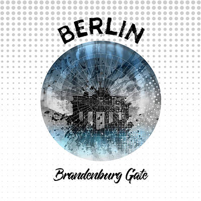 Graphic Art Berlin Brandenburg Gate Poster by Melanie Viola