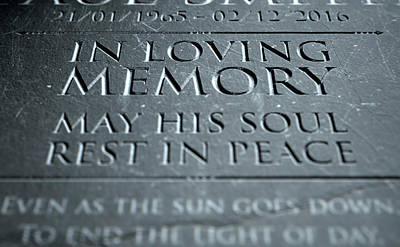 Gravestone In Loving Memory Poster