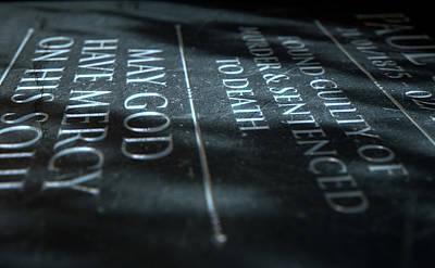Gravestone Of Convicted Murderer Poster