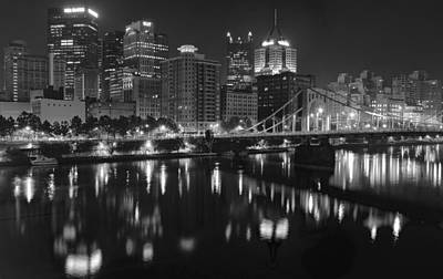 Grayscale Pittsburgh Poster by Frozen in Time Fine Art Photography
