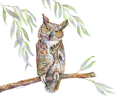 Great Horned Owl  Poster by Amy Kirkpatrick