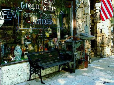 Green Lantern Antiques Poster by Julie Grace
