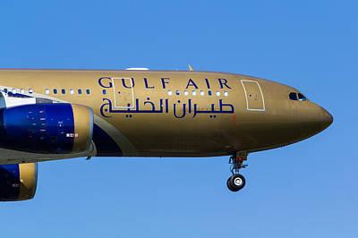 Gulf Air Airbus A330 Poster by David Pyatt