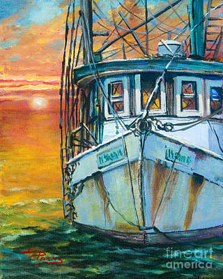 Gulf Coast Shrimper Poster by Dianne Parks