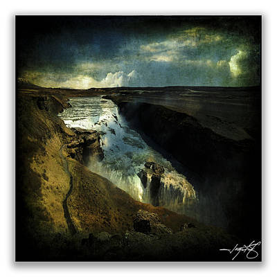 Gullfoss 3 Poster by Ingrid Smith-Johnsen