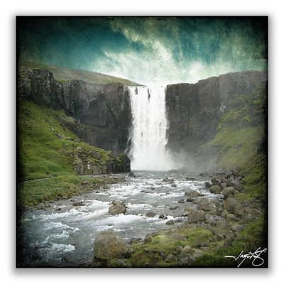 Gullfoss 6 Poster by Ingrid Smith-Johnsen