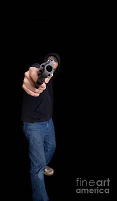 Gun Man Poster by Edward Fielding