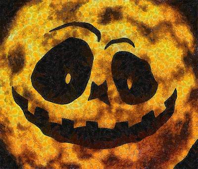 Halloween Pumpkin Poster by Sarah Kirk