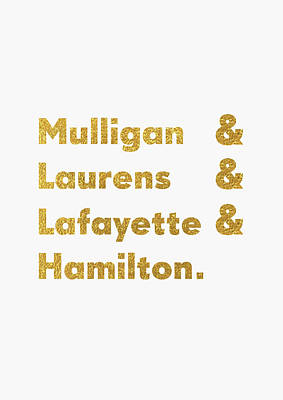 Hamilton Broadway Poster by Semih Yurdabak