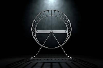 Hamster Wheel Empty Poster by Allan Swart