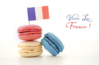Happy Bastille Day Party Macarons Poster by Milleflore Images