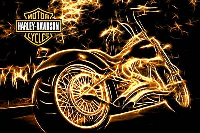 Poster featuring the photograph Harley-davidson by Aaron Berg