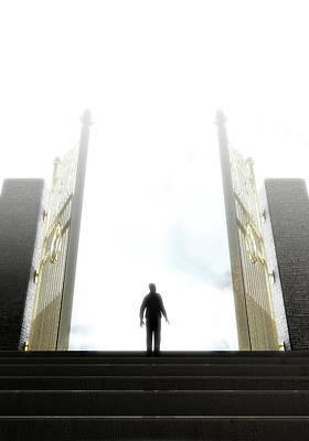 Heavens Gates And Silhouette Poster by Allan Swart
