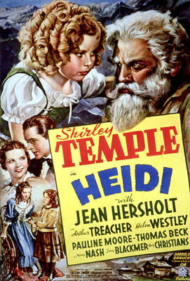 Heidi, Shirley Temple, Jean Hersholt Poster by Everett