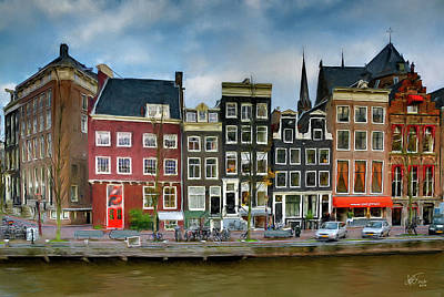Poster featuring the photograph Herengracht 411. Amsterdam by Juan Carlos Ferro Duque
