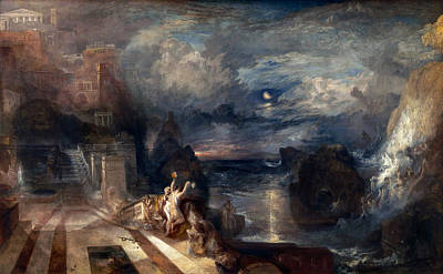 Hero And Leander's Farewell Poster by JMW Turner