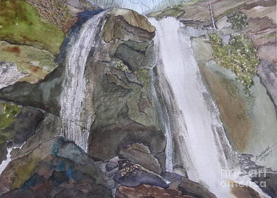 Poster featuring the painting High Shoals Falls by Joel Deutsch