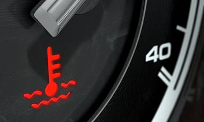High Temperature Dashboard Light Poster