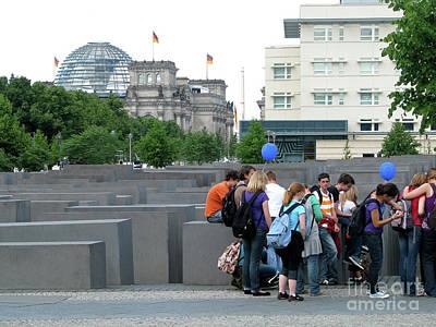Poster featuring the photograph Holocaust Memorial Berlin by Erik Falkensteen