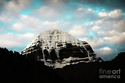 Holy Kailas East Slop Himalayas Tibet Yantra.lv Poster