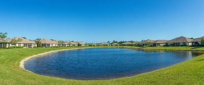 Houses Around Small Lake In North Port Poster by Panoramic Images