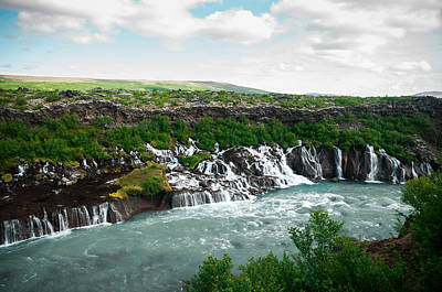 Hraunfossar Poster by Mirra Photography