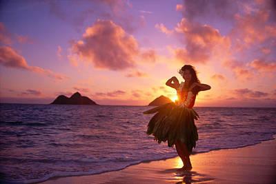 Hula At Sunrise Poster