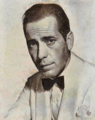 Humphrey Bogart Vintage Hollywood Actor Poster by John Springfield