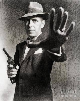 Humphrey Bogart, Vintage Hollywood Legend Poster by John Springfield