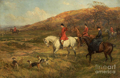 Hunting Scene Poster by Heywood Hardy