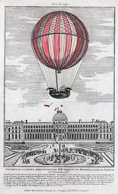 Hydrogen Balloon, 1783 Poster