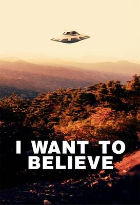 I Want To Believe By Raphael Terra Poster by Raphael Terra