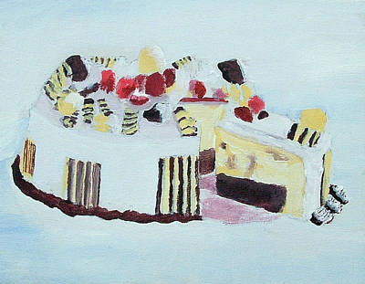 Ice Cream Cake Oil On Canvas Poster
