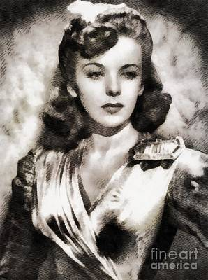 Ida Lupino, Vintage Actress Poster by John Springfield