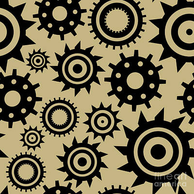 Industrial Pattern Poster