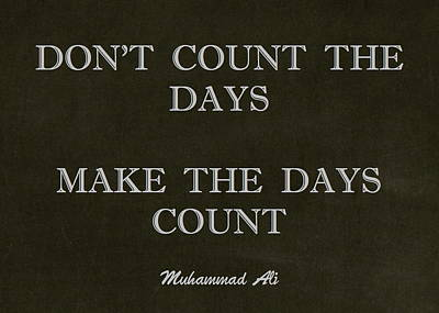 Inspirational Quote From Muhammad Ali Poster