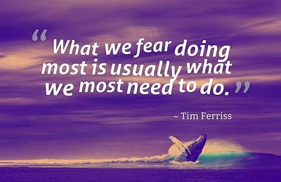 Inspirational Timeless Quotes - Tim Ferriss 2 Poster