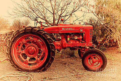 Poster featuring the photograph International Harvester Mccormick Farmall Farm Tractor . 7d10320 by Wingsdomain Art and Photography
