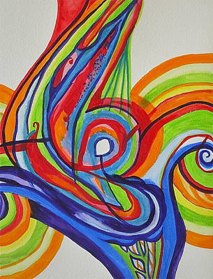 Iridescent Twister Poster by Erika Swartzkopf