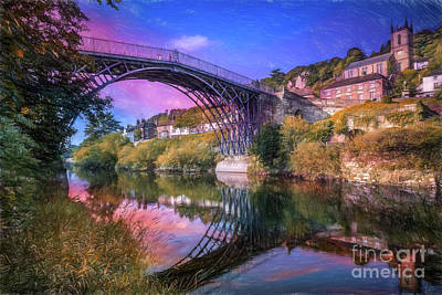 Iron Bridge 1779 Poster by Adrian Evans