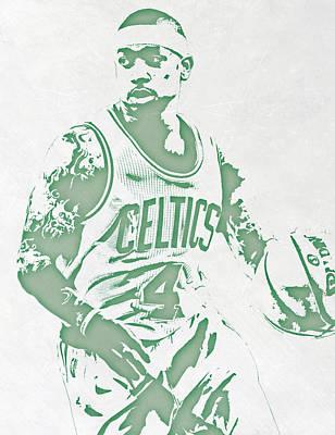 Isaiah Thomas Boston Celtics Pixel Art Poster by Joe Hamilton